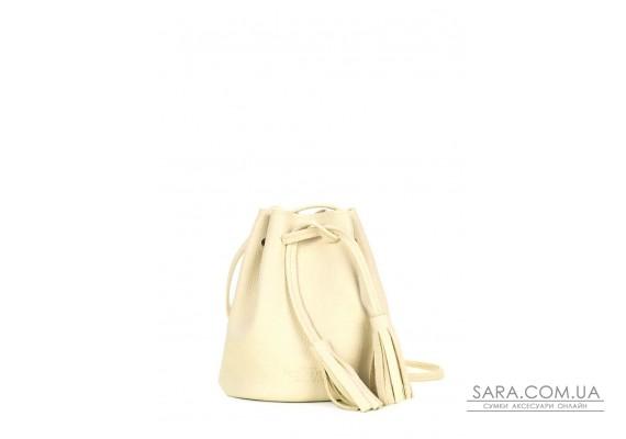 Жовта шкіряна сумочка на зав'язках Bucket (bucket-lemonade)