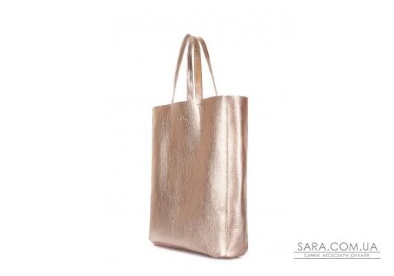 Золотая кожаная сумка City (city-gold)