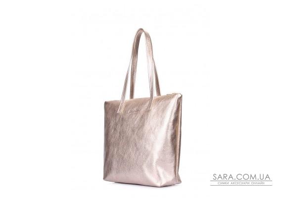 Золотая кожаная сумка Secret (secret-gold)