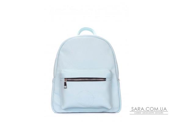 Блакитний шкіряний рюкзак POOLPARTY Xs (xs-bckpck-babyblue)