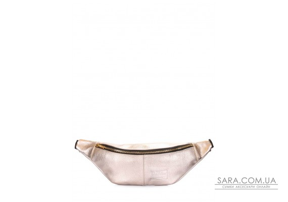 Золота шкіряна сумка-бананка PLPRT (waistbag-leather-gold)