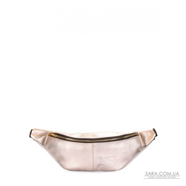 Золотая кожаная сумка-бананка PLPRT (waistbag-leather-gold) дешево