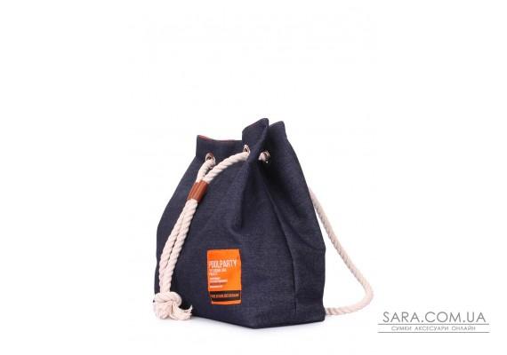 Джинсовий рюкзак на зав'язках (pack-jeans)