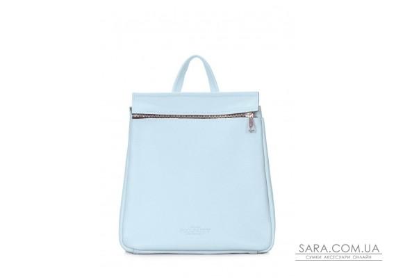 Шкіряний блакитний рюкзак POOLPARTY Venice (venice-leather-babyblue)