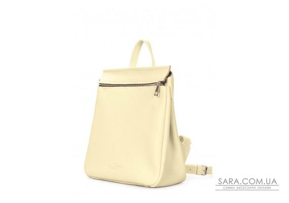 Шкіряний жовтий рюкзак POOLPARTY Venice (venice-leather-lemonade)