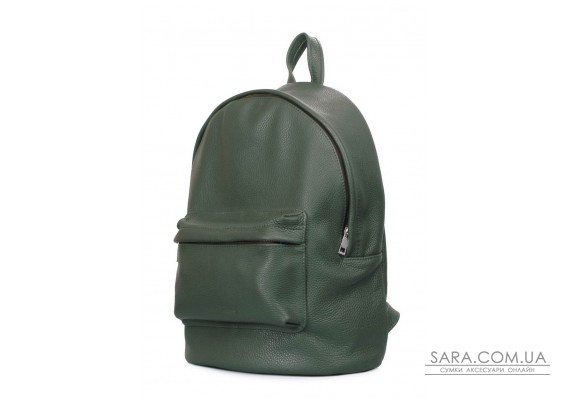 Шкіряний рюкзак POOLPARTY (backpack-leather-darkgreen)