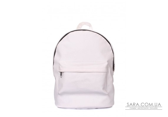 Рюкзак POOLPARTY зі штучної шкіри (backpack-pu-white)