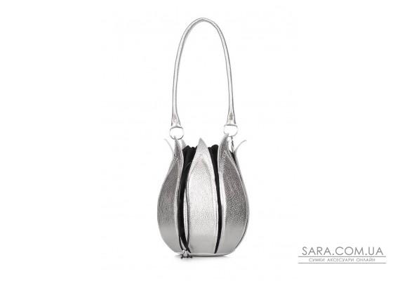 Шкіряна сумка Flower (flower-silver)