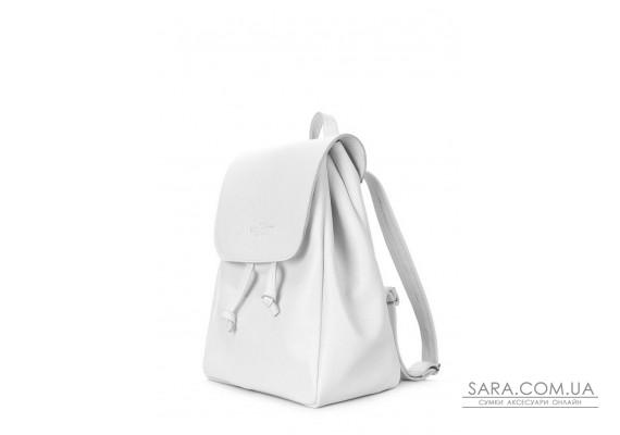 Рюкзак шкіряний на зав'язках POOLPARTY Paris (paris-white)