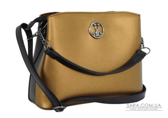 628 сумка чорна золото Lucherino