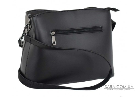 628 сумка чорна срібло Lucherino