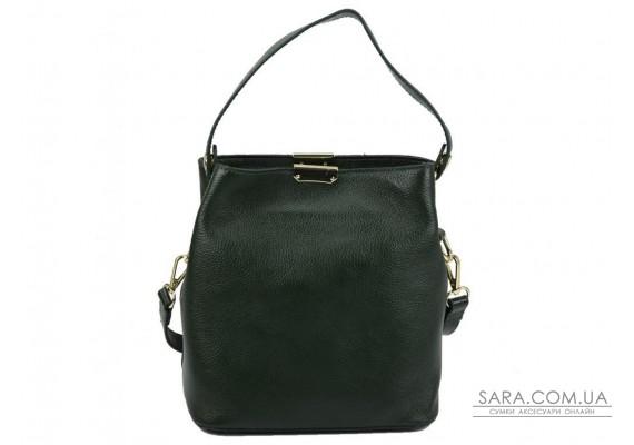 Жіноча шкіряна сумка зеленого кольору Riche F-A25F-FL-89012WGR