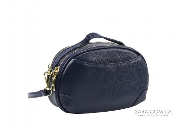 Жіноча шкіряна сумка синього кольору Riche F-A25F-FL-89019WBL