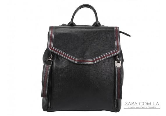 Жіночий шкіряний рюкзак чорного кольору F-A25F-FL-88805WA