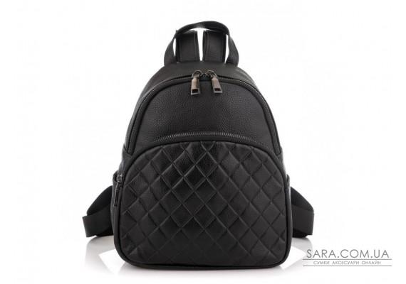 Жіночий шкіряний чорний рюкзак Riche NM20-W322A