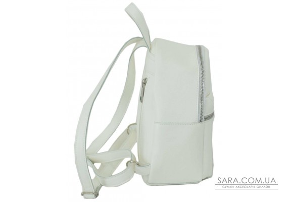 684 рюкзак еко кожа белый Lucherino