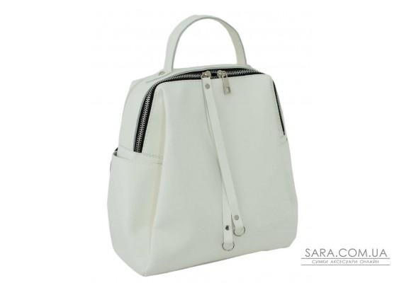 660 рюкзак экокожа белый Lucherino