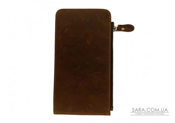 Портмоне мужское коричневое Tiding Bag t0052