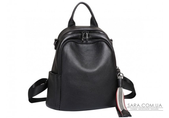 Черный кожаный рюкзак городского формата Olivia Leather NWBP27-8085A-BP