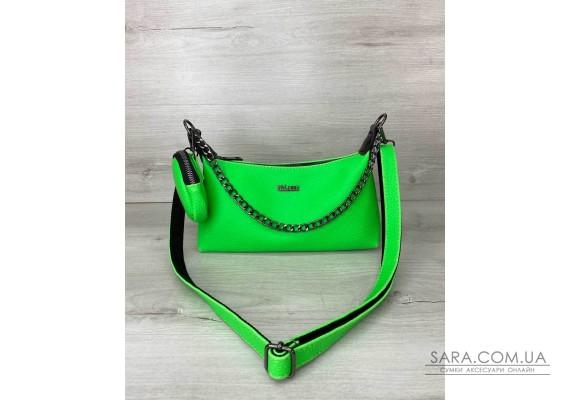 Жіноча сумка «Лойс» зелена WeLassie