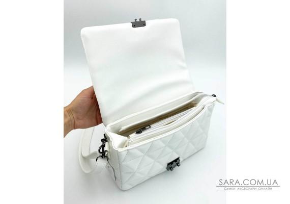 Женская сумка «Обри» белая WeLassie
