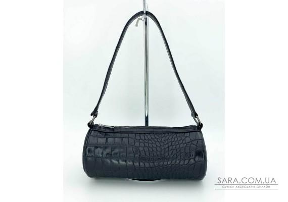 Женская сумка «Бэтс» черный крокодил WeLassie