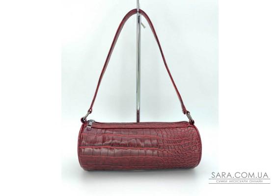 Женская сумка «Бэтс» красный крокодил WeLassie