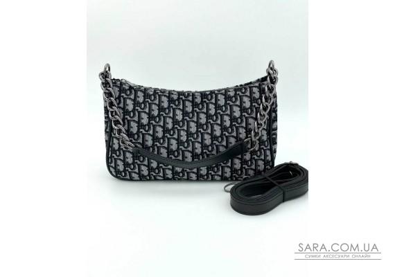 Женская сумка «Луна» черная с принтом WeLassie