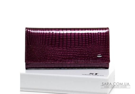 Кошелек LR кожа-лак SERGIO TORRETTI W501-2 purple Podium