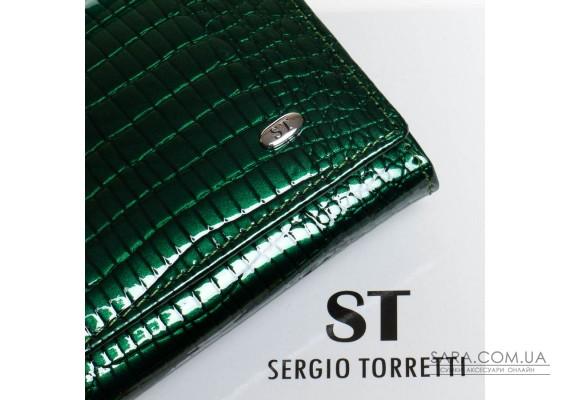 Кошелек LR кожа-лак SERGIO TORRETTI W501-2 dark-green Podium
