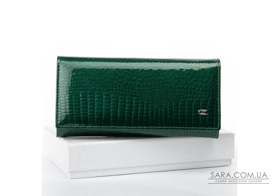 Кошелек LR кожа-лак SERGIO TORRETTI W501 dark-green Podium