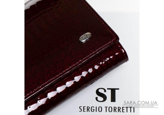 Кошелек LR кожа-лак SERGIO TORRETTI W501 bordo Podium