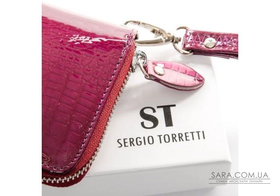 Кошелек LR кожа-лак SERGIO TORRETTI W38 purple Podium