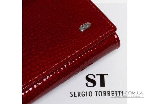 Кошелек LR кожа-лак SERGIO TORRETTI W1-V-2 red Podium