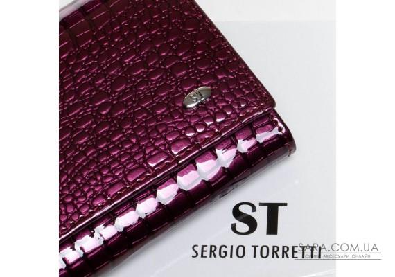 Кошелек LR кожа-лак SERGIO TORRETTI W1-V-2 purple Podium