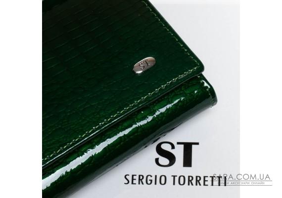 Кошелек LR кожа-лак SERGIO TORRETTI W1-V-2 dark-green Podium