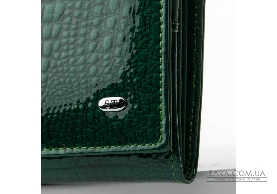 Кошелек LR кожа-лак SERGIO TORRETTI W1-V dark-green Podium