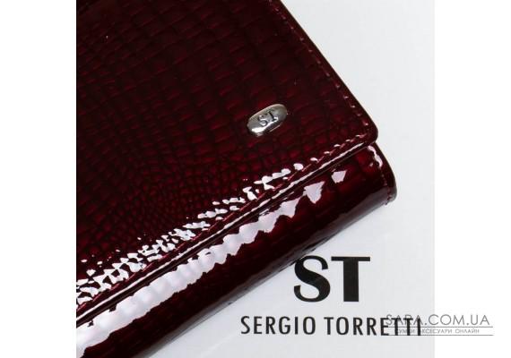 Кошелек LR кожа-лак SERGIO TORRETTI W1-V bordo Podium