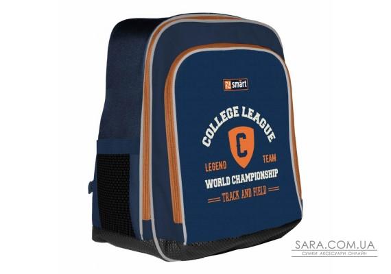 """Рюкзак шкільний SMART H-55 """"College league"""", синій"""