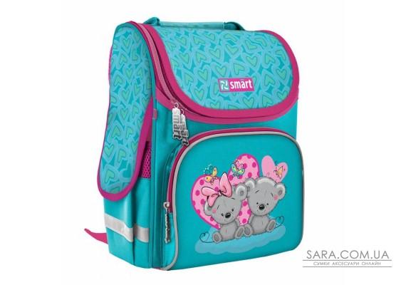 """Рюкзак шкільний каркасний SMART PG-11 """"Friends"""", бірюзовий"""