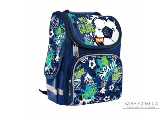 """Рюкзак шкільний каркасний SMART PG-11 """"My Game"""", синій"""