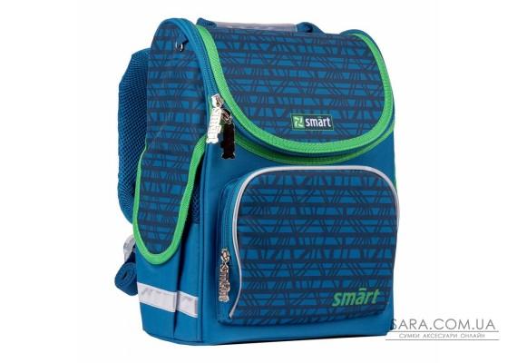 """Рюкзак шкільний каркасний SMART PG-11 """"Megapolis"""", синій"""