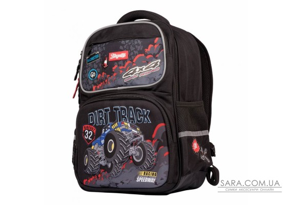 """Рюкзак шкільний 1Вересня S-105 """"Dirt Track"""", чорний (555098)"""