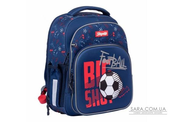 """Рюкзак шкільний 1Вересня S-106 """"Football"""", синій (552344)"""