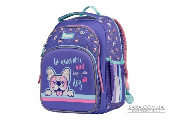 """Рюкзак шкільний 1Вересня S-106 """"Corgi"""", фіолетовий (552285)"""