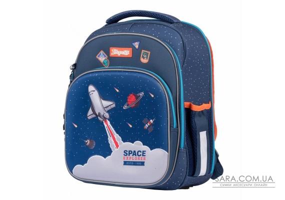 """Рюкзак шкільний 1Вересня S-106 """"Space"""", синій (552242)"""