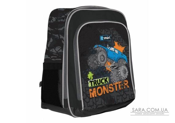 """Рюкзак шкільний SMART H-55 """"Monster Truck"""", чорний"""