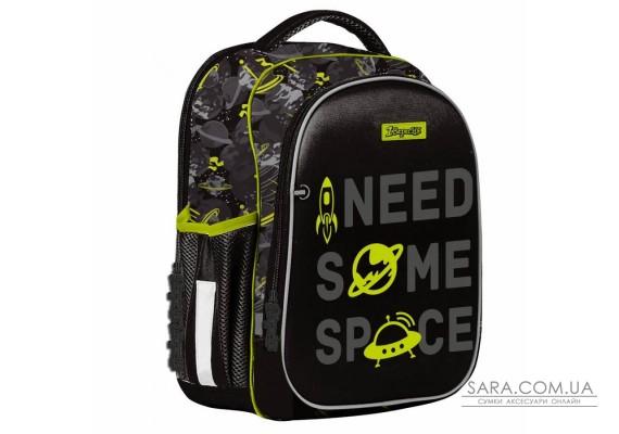 """Рюкзак школьный 1Вересня S-107 """"Space"""", черный (552005)"""