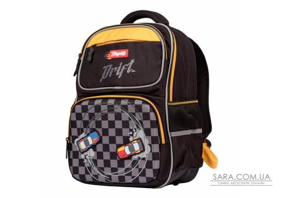 """Рюкзак шкільний 1Вересня S-105 """"Maxdrift"""", чорний/жовтий (558744)"""