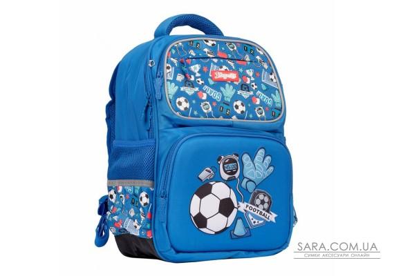 """Рюкзак шкільний 1Вересня S-105 """"Football"""", синій (558307)"""